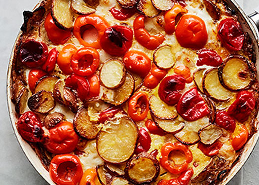Pepper Manchego Frittata